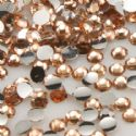 Jewel Embellishments, Resin, Light orange, Faceted Discs, 3mm x 3mm x 1mm, 300  pieces, [ZSS026]